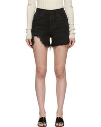 Agolde - Black Dee Ultra High-rise Close Fit Shorts - Lyst