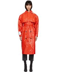 MSGM | Red Plastic Trench Coat | Lyst