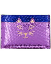 Charlotte Olympia - Purple And Blue Snake Feline Card Holder - Lyst