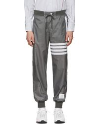 Thom Browne - Grey Ripstop Lightweight Four Bar Lounge Pants - Lyst