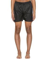 MSGM - Black Logo Shorts - Lyst