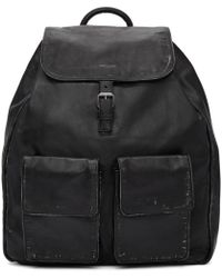 Saint Laurent - Black Nino Vintage Leather Backpack - Lyst