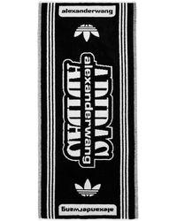Alexander Wang - Black And White Logo Towel - Lyst