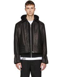 McQ - Black Leather Moto Jacket - Lyst