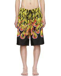 Prada - Black Flame Bermuda Swim Shorts - Lyst