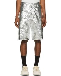 OAMC - Silver Vapor Shorts - Lyst
