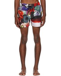 Paul Smith - Multicolor Collage Swim Shorts - Lyst