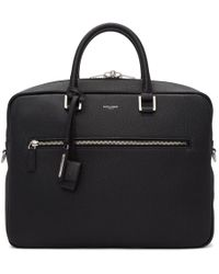 Saint Laurent - Black Sac De Jour Souple Briefcase - Lyst