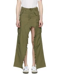 R13 - Green Surplus Skirt - Lyst