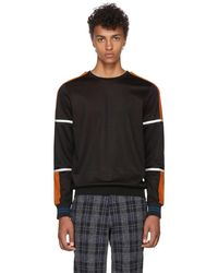PS by Paul Smith - Black And Orange Technical Sweatshirt - Lyst