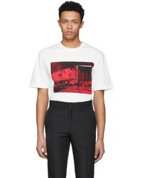 CALVIN KLEIN 205W39NYC - Off-white Printed T-shirt - Lyst