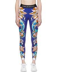 Emilio Pucci - Multicolor Patterned Leggings - Lyst