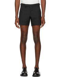 Thom Browne - Black Low-rise Skinny Mini Shorts - Lyst