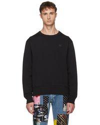 Acne Studios - Black Fairview Face Sweatshirt - Lyst