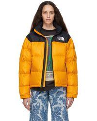 The North Face - Black And Orange Down 1996 Retro Nuptse Jacket - Lyst b1a37f970