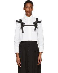 ShuShu/Tong - White Cropped Harness Shirt - Lyst