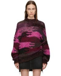 Saint Laurent - Sweater In Camouflage Jacquard Knit - Lyst