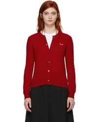 Play Comme des Garçons - Red Heart Patch Cardigan - Lyst