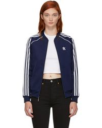adidas Originals - Navy Sst Track Jacket - Lyst