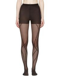 Alexander Wang - Black Barbed Wire Stockings - Lyst