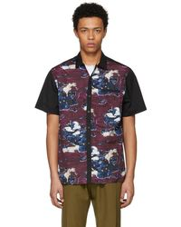 Lanvin - Black And Purple Bowling Shirt - Lyst