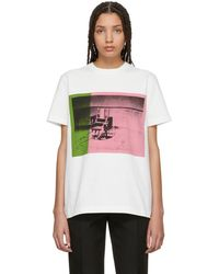 CALVIN KLEIN 205W39NYC - White And Pink Electric Chair T-shirt - Lyst