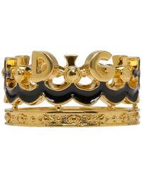 Dolce & Gabbana - Gold Crown Ring - Lyst