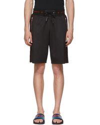 Givenchy - Black Sports Logo Bermuda Shorts - Lyst