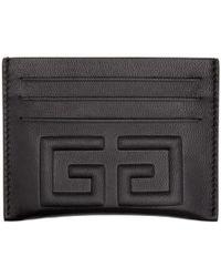 Givenchy - Black Debossed 4g Card Holder - Lyst