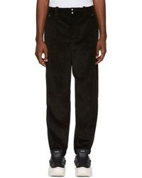 Alexander Wang - Black Corduroy Wide Wale Trousers - Lyst