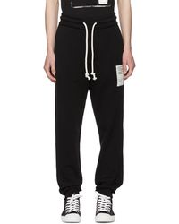 Stereotype patch drawstring trousers - Black Maison Martin Margiela