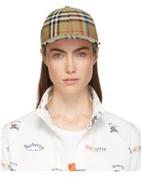 Burberry - Rainbow Stripe Vintage Check Baseball Cap - - Lyst