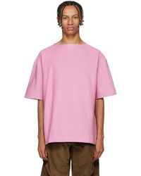 Lemaire - Pink Jersey T-shirt - Lyst