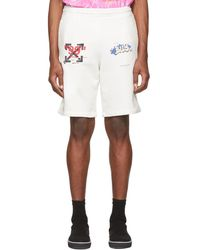 a71326623f28 Lyst - Off-White c o Virgil Abloh seeing Things Cotton Terry Shorts ...