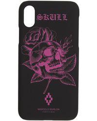 Marcelo Burlon - Black And Pink Skull Iphone X Case - Lyst