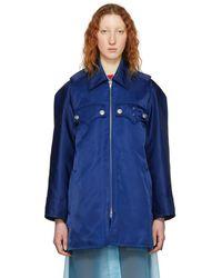 CALVIN KLEIN 205W39NYC - Blue Western Detail Coat - Lyst