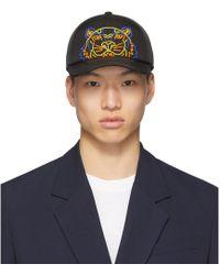 b743bd7d0f6 Lyst - KENZO Black Neoprene Chinese New Year Tiger Cap in Black for Men