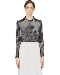 Iris Van Herpen - Grey Cropped Liquid Jacket - Lyst