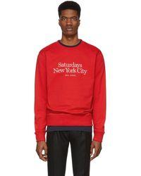 Saturdays NYC - Red Miller Standard Bowery Sweatshirt - Lyst