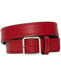 Maison Margiela - Red Leather Wrap Bracelet - Lyst