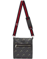 Gucci - Black GG Supreme Tiger Bag - Lyst