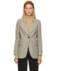 MM6 by Maison Martin Margiela - Multicolor Check Bonded Jersey Blazer - Lyst