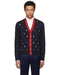 Gucci - Navy Insect Cardigan - Lyst