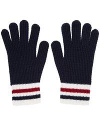 Moncler Gamme Bleu - Navy Wool Gloves - Lyst