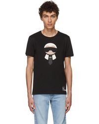 Fendi | Black Karlito T-shirt | Lyst
