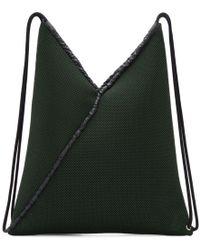 MM6 by Maison Martin Margiela - Green Mesh Drawstring Backpack - Lyst