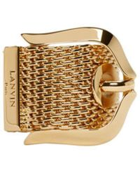 Lanvin - Gold Buckle Ring - Lyst