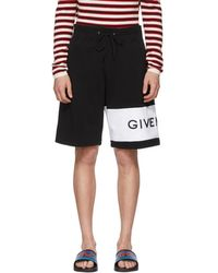 Givenchy - Black And White 4g Bermuda Shorts - Lyst