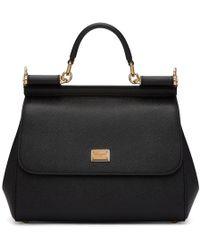 Dolce & Gabbana - Black Medium Miss Sicily Bag - Lyst