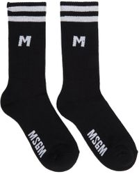 MSGM - Black Sporty Socks - Lyst